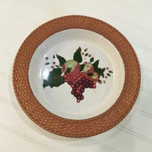 2001 Judy Buswell Basketweave Grapes Serving Dish